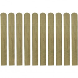 stradeXL 30 impregnowanych sztachet drewnianych, 80 cm