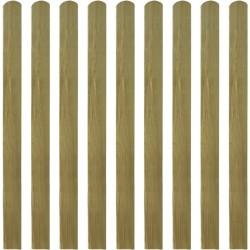 stradeXL 20 impregnowanych sztachet drewnianych, 120 cm