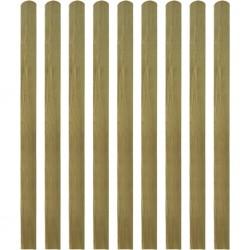 stradeXL 20 impregnowanych sztachet drewnianych, 140 cm