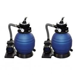 stradeXL Piaskowe pompy filtrujące, 2 szt., 400 W, 11000 L/h