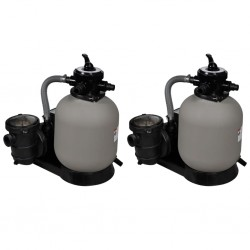 stradeXL Piaskowe pompy filtrujące, 2 szt., 600 W, 17000 L/h