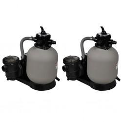 stradeXL Sand Filter Pumps 2 pcs 600 W 17000 l/h