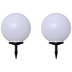 stradeXL Lampy do oświetlenia ścieżki, 2 szt., LED, 40 cm, z kołkami