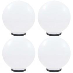 stradeXL Lampy ogrodowe LED, 4 szt., kuliste, 40 cm, PMMA
