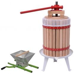 stradeXL 2-częściowy zestaw: prasa do owoców i wina oraz zgniatarka
