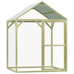 stradeXL Chicken Cage 1.5x1.5x2 m Impregnated Pinewood