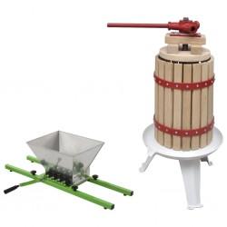 stradeXL 2-częściowy zestaw prasy do owoców i wina oraz zgniatarki