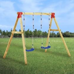 stradeXL Swing Set 230x130x166 cm Pinewood