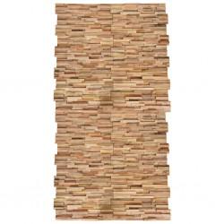 stradeXL Ścienne panele okładzinowe, 20 szt., lite drewno tekowe, 2 m²