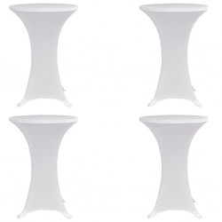 stradeXL Standing Table Cover Ø80 cm White Stretch 4 pcs