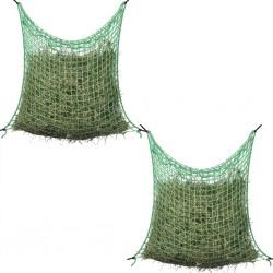 stradeXL Hay Nets 2 pcs Square 0.9x2 m PP
