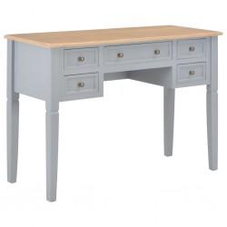 stradeXL Biurko, szare, 109,5x45x77,5 cm, drewniane