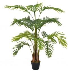 stradeXL Sztuczna palma z doniczką, zielony, 120 cm
