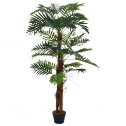 stradeXL Sztuczna palma z doniczką, zielony, 165 cm