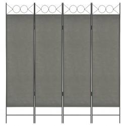 stradeXL Parawan 4-panelowy, antracytowy, 160 x 180 cm