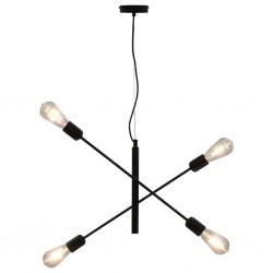 stradeXL Lampa sufitowa, czarna, E27