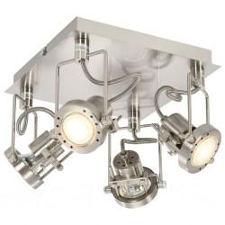 stradeXL 4-Way Spot Light Silver GU10