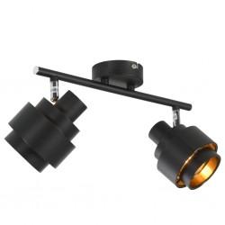 stradeXL Lampa z 2 reflektorami, czarna, E14
