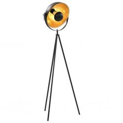 stradeXL Lampa stojąca, E27, czarno-złota, 31 cm