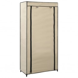 stradeXL Shoe Cabinet with Cover Cream 58x28x106 cm Fabric
