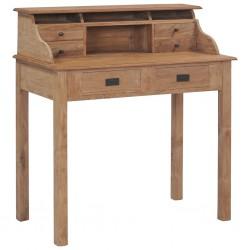 stradeXL Biurko, 90x50x100 cm, lite drewno tekowe