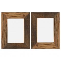 stradeXL Ramki na zdjęcia, 2 szt., 25x30 cm, drewno z odzysku i szkło