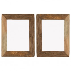 stradeXL Photo Frames 2 pcs 34x40 cm Solid Reclaimed Wood and Glass