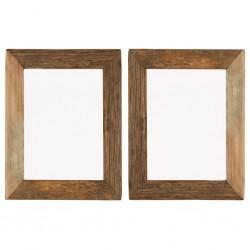 stradeXL Ramki na zdjęcia, 2 szt., 34x40 cm, drewno z odzysku i szkło
