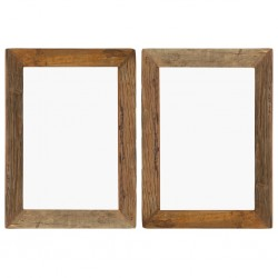 stradeXL Photo Frames 2 pcs 40x50 cm Solid Reclaimed Wood and Glass