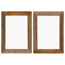 stradeXL Ramki na zdjęcia, 2 szt., 40x50 cm, drewno z odzysku i szkło