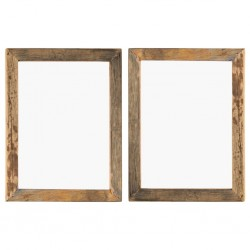 stradeXL Photo Frames 2 pcs 50x60 cm Solid Reclaimed Wood and Glass