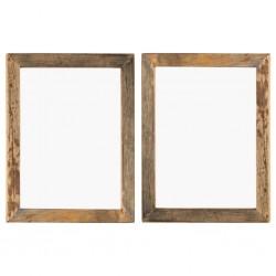 stradeXL Ramki na zdjęcia, 2 szt., 50x60 cm, drewno z odzysku i szkło