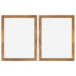 stradeXL Photo Frames 2 pcs 90x70 cm Solid Reclaimed Wood and Glass