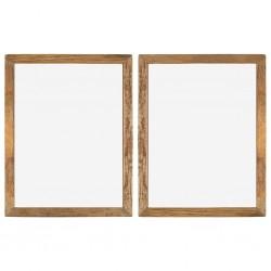 stradeXL Ramki na zdjęcia, 2 szt., 90x70 cm, drewno z odzysku i szkło