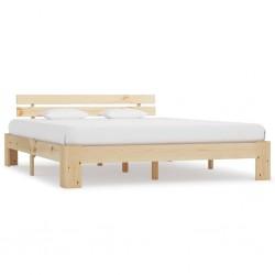 stradeXL Rama łóżka, lite drewno sosnowe, 180 x 200 cm