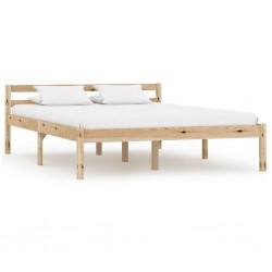 stradeXL Rama łóżka, lite drewno sosnowe, 140 x 200 cm