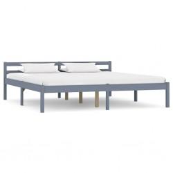 stradeXL Rama łóżka, szara, lite drewno sosnowe, 160 x 200 cm