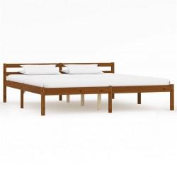 stradeXL Rama łóżka, miodowy brąz, lite drewno sosnowe, 160 x 200 cm
