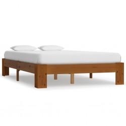 stradeXL Rama łóżka, jasnobrązowa, lite drewno sosnowe, 120 x 200 cm