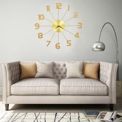 stradeXL Wall Clock Metal 50 cm Golden
