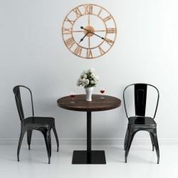 stradeXL Wall Clock Metal 40 cm Golden