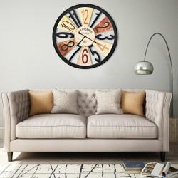 stradeXL Wall Clock Metal 60 cm Multicolour