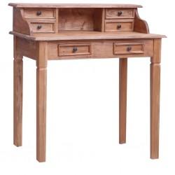 stradeXL Sekretarzyk z szufladami, 90x50x101 cm, lite drewno z odzysku
