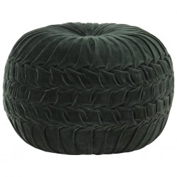 stradeXL Puf, aksamit bawełniany, marszczony, 40 x 30 cm, zielony