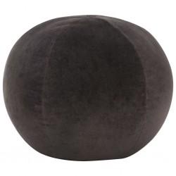 stradeXL Puf, aksamit bawełniany, 50 x 35 cm, antracytowy