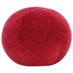 stradeXL Puf, aksamit bawełniany, 50 x 35 cm, czerwony