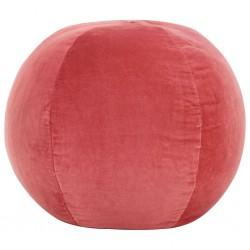 stradeXL Puf, aksamit bawełniany, 50 x 35 cm, różowy