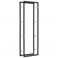 stradeXL Firewood Rack Black 50x20x150 cm Steel