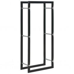 stradeXL Firewood Rack Black 44x20x100 cm Steel