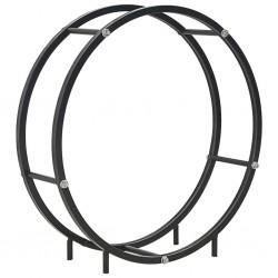 stradeXL Firewood Rack Black 70x20x70 cm Steel